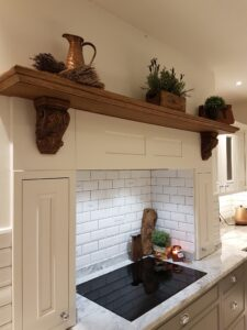 Floating Wooden Kitchen Mantlepiece