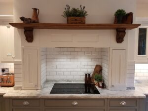 Bespoke Mantlepiece Over Kitchen Hob