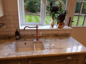 Timeless Classic Kitchen - Marble Sink and Copper Tap