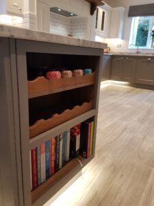 Wine Rack and Cooking Book Shelf