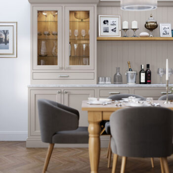 Belgravia Lavendar Gray and Cashmere Dining Room