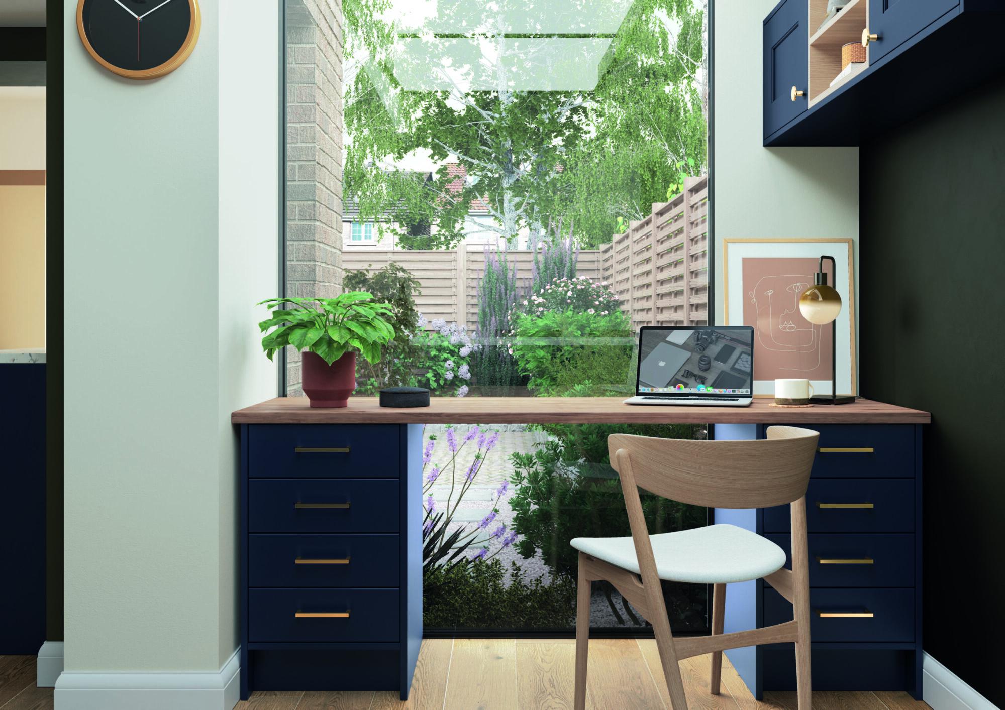 Florence Slate Blue Home Office