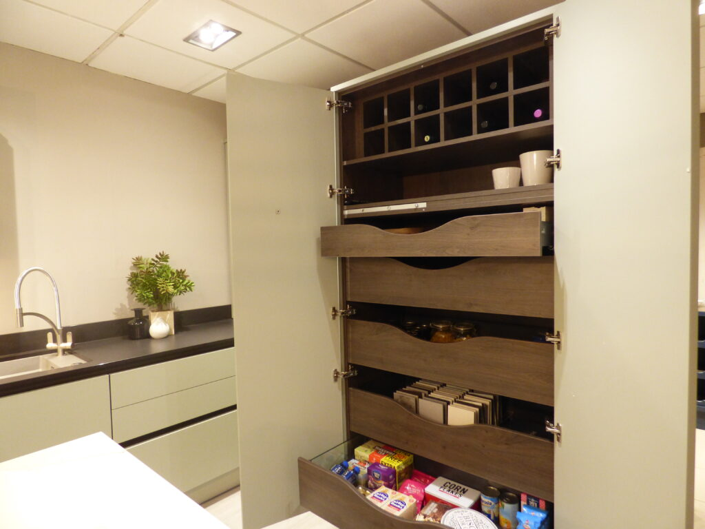 Tower Cabinet with Slide Drawers for food storage