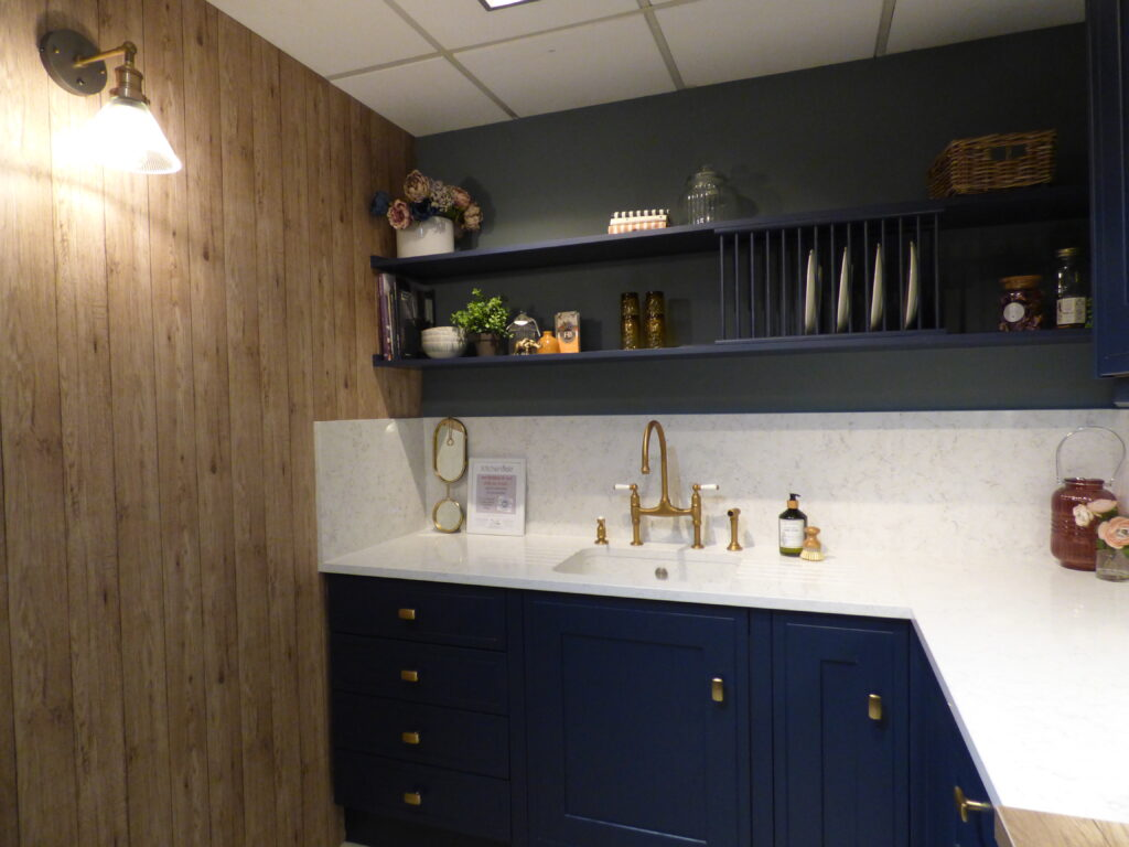 Kitchen with Wooden Wall