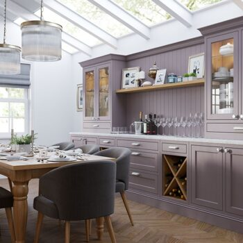 kitchen stori inframe belgravia painted lavender grey dresser